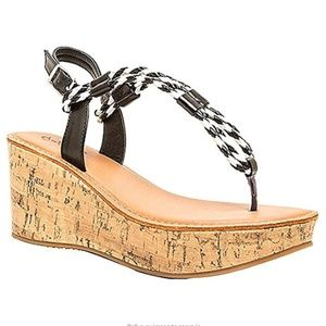 NEW Qupid Bali Braided Platform Wedge Sandal 7.5